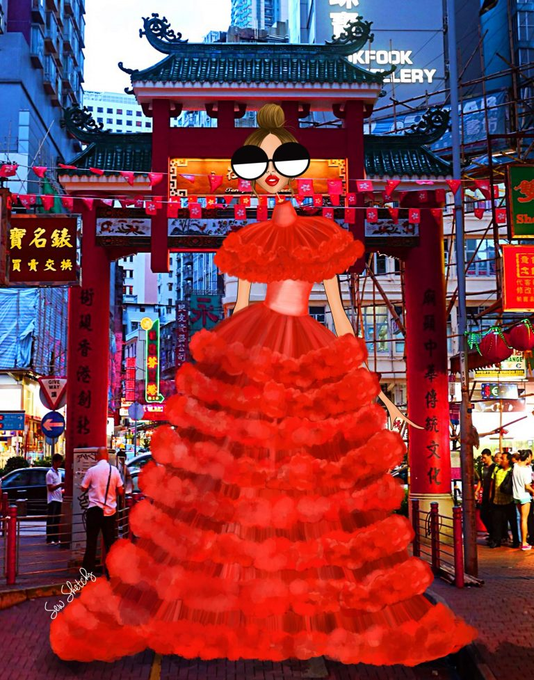 BLESS MY PR TEAM FOR SENDING ME THIS GOWN TO HONG KONG
