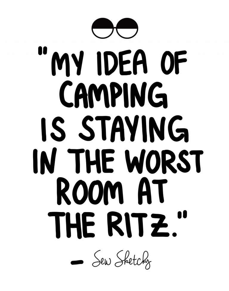 MY IDEA OF CAMPING IS STAYING IN THE WORST ROOM AT THE RITZ